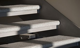 Marche suspendue escalier en pierre naturelle