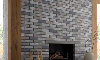 Parement briques cheminée