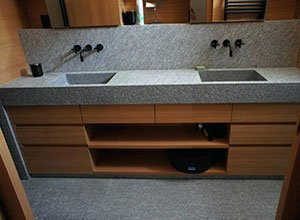 vasque sur mesure en granit
