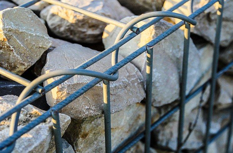 Gabions pour clôture et façade